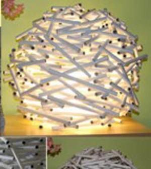 lampadari riciclati : Lampada fai da te con carta riciclata - Ambiente Bio