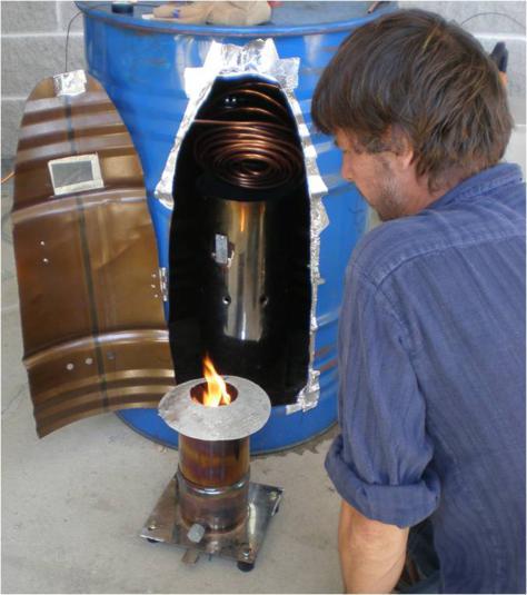 Elsa stove la stufa pirolitica che produce carbone for Costruire stufa pirolisi