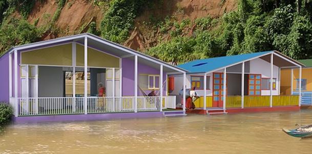 Case galleggianti sostenibili per proteggere dalle inondazioni for Case galleggianti amsterdam