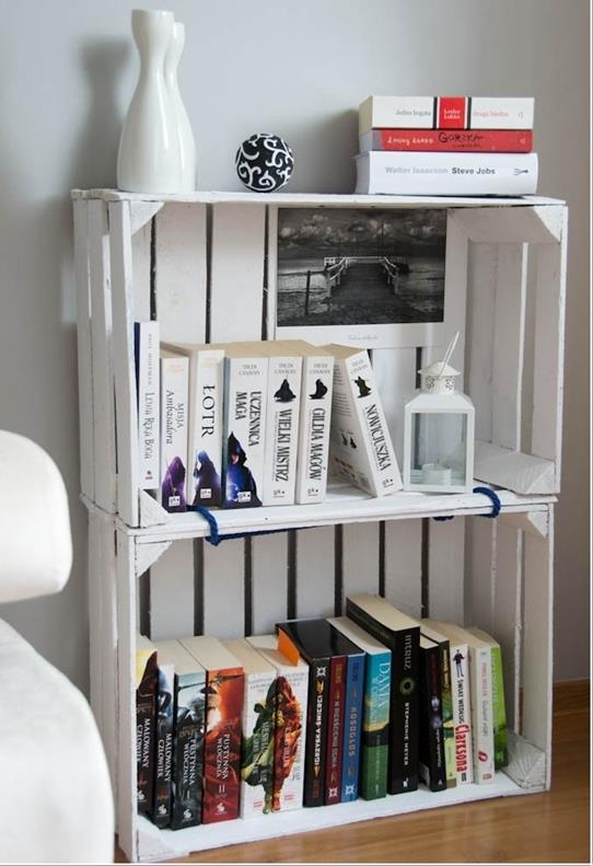 Foto: http://www.amazinginteriordesign.com/10-amazing-bookcase-ideas-from-recycled-materials/
