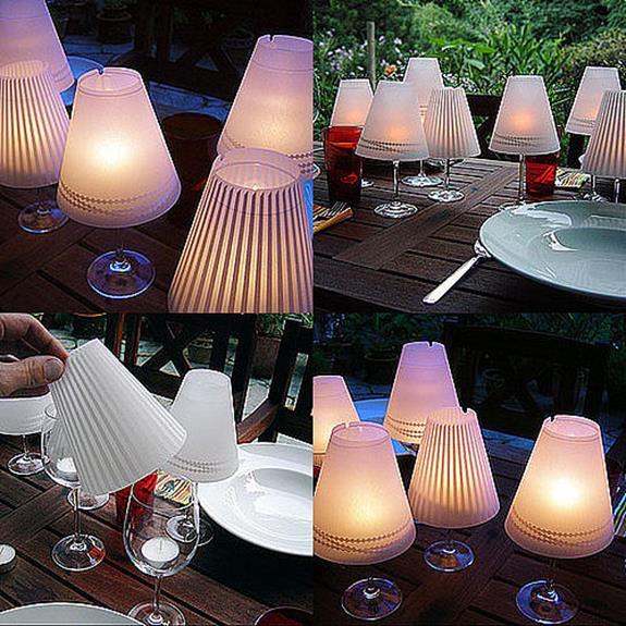 lampade e bicchieri