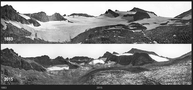 Shrinking Lyell Glacier, Yosemite National Park