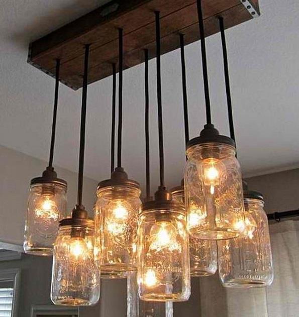 7 lampadari fai da te da realizzare con il riciclo