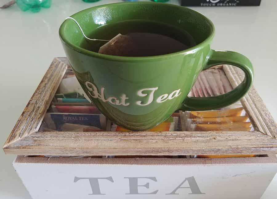 bere il tè