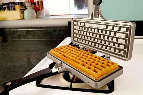 tastiera waffle