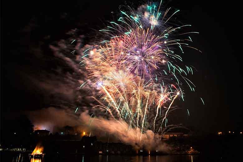 Fuochi d artificio silenziosi