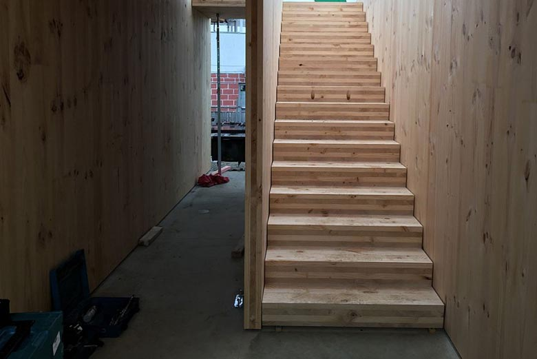 legno xlam pannelli scale