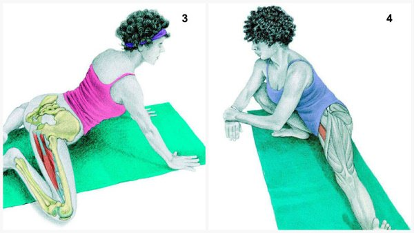 Stiramenti muscolari: muscolo allunga la postura della rana