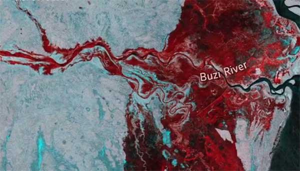 ciclone idai mappa buzi river
