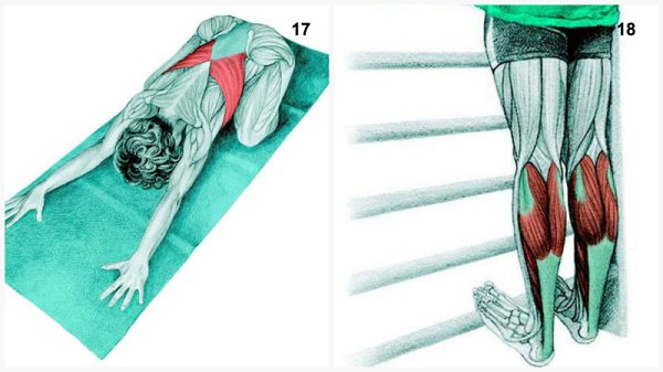 Stiramenti muscolari:stiramento muscolare posa del bambino