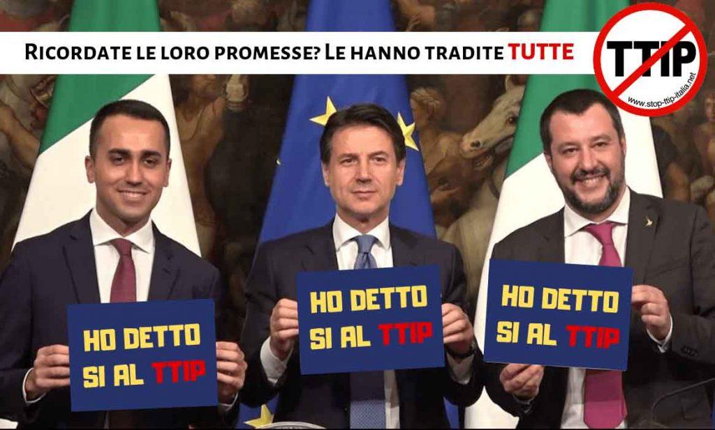 Nuovo TTIP Governo Conte
