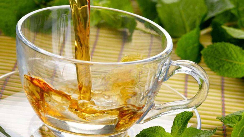 tè alla menta insetti