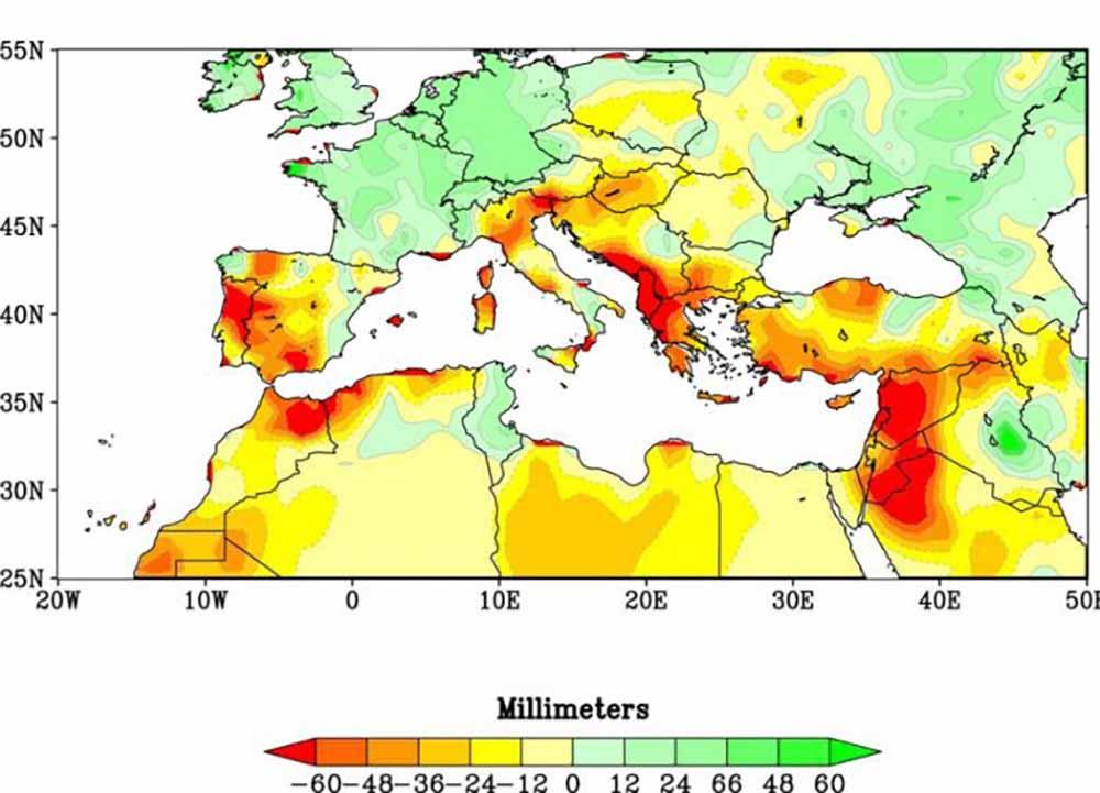 siccità paesi del mediterraneo