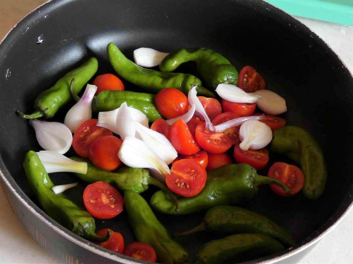 focaccia cuocere le verdure in padella