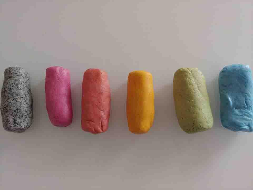 Pasta di sale colorata