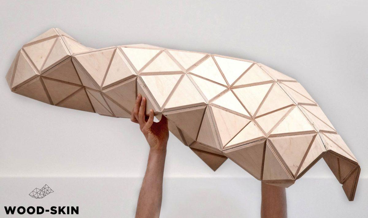 wood skin legno pieghevole origami