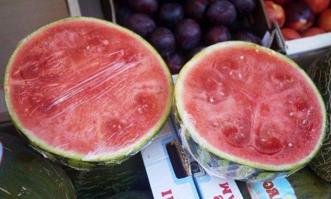 anguria tagliata supermercato