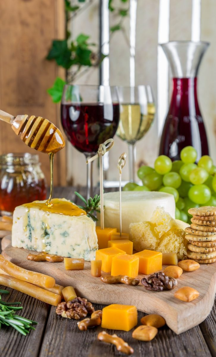 formaggio vino rosso